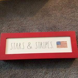 Rae Dunn Stars & Stripes Wooden Sign